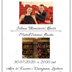 Koncert klasične glazbe: Jelena Tihomirović – klavir i Metod Sironić – flauta
